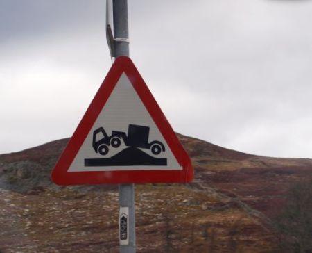 Schottisches Straßenschild