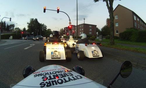 Hotrods an der Ampel