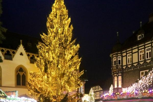 Weihnachtsmarkt Goslar Weihnachtsbaum